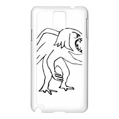 Monster Bird Drawing Samsung Galaxy Note 3 N9005 Case (White)