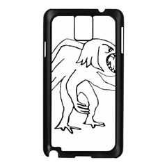 Monster Bird Drawing Samsung Galaxy Note 3 N9005 Case (Black)