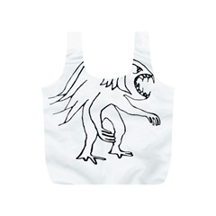 Monster Bird Drawing Full Print Recycle Bags (S)