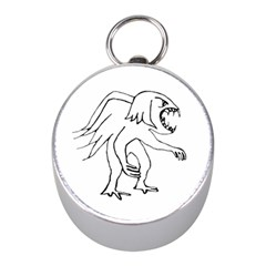 Monster Bird Drawing Mini Silver Compasses