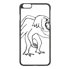 Monster Bird Drawing Apple iPhone 6 Plus/6S Plus Black Enamel Case