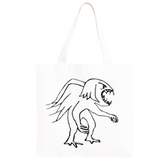 Monster Bird Drawing Grocery Light Tote Bag