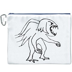 Monster Bird Drawing Canvas Cosmetic Bag (XXXL)