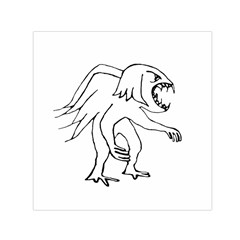 Monster Bird Drawing Small Satin Scarf (Square)