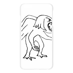 Monster Bird Drawing Apple Seamless iPhone 6 Plus/6S Plus Case (Transparent)