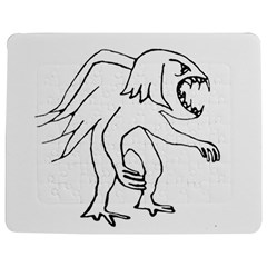 Monster Bird Drawing Jigsaw Puzzle Photo Stand (Rectangular)