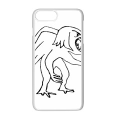 Monster Bird Drawing Apple iPhone 7 Plus White Seamless Case