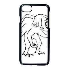 Monster Bird Drawing Apple Iphone 7 Seamless Case (black)