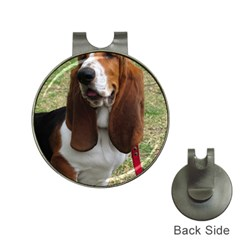 Basset Hound Sitting  Hat Clips with Golf Markers