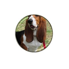 Basset Hound Sitting  Hat Clip Ball Marker (10 pack)