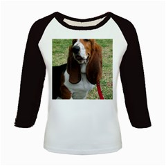 Basset Hound Sitting  Kids Baseball Jerseys
