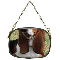 Basset Hound Sitting  Chain Purses (Two Sides)