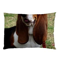 Basset Hound Sitting  Pillow Case