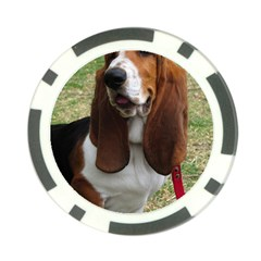 Basset Hound Sitting  Poker Chip Card Guards (10 pack)