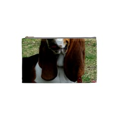 Basset Hound Sitting  Cosmetic Bag (Small)