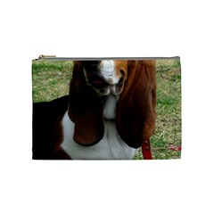 Basset Hound Sitting  Cosmetic Bag (Medium)
