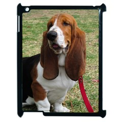Basset Hound Sitting  Apple iPad 2 Case (Black)