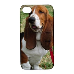 Basset Hound Sitting  Apple iPhone 4/4S Hardshell Case with Stand