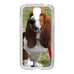 Basset Hound Sitting  Samsung GALAXY S4 I9500/ I9505 Case (White)