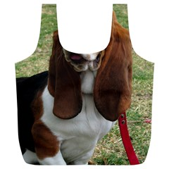 Basset Hound Sitting  Full Print Recycle Bags (L)