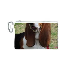 Basset Hound Sitting  Canvas Cosmetic Bag (S)