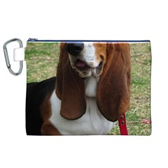 Basset Hound Sitting  Canvas Cosmetic Bag (XL)