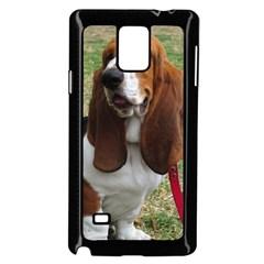 Basset Hound Sitting  Samsung Galaxy Note 4 Case (Black)