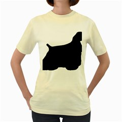 Cocker Spaniel Silo  Women s Yellow T-Shirt