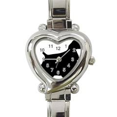 Cocker Spaniel Silo  Heart Italian Charm Watch