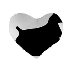 Cocker Spaniel Silo  Standard 16  Premium Heart Shape Cushions