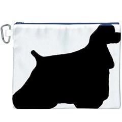 Cocker Spaniel Silo  Canvas Cosmetic Bag (XXXL)