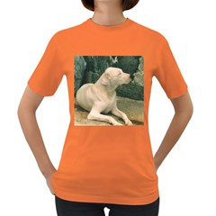 Dogo Argentino Laying  Women s Dark T-Shirt