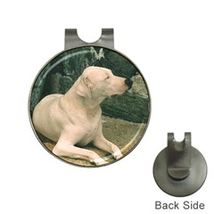 Dogo Argentino Laying  Hat Clips with Golf Markers