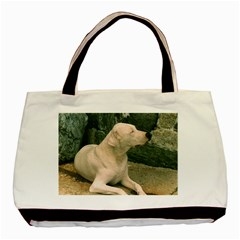 Dogo Argentino Laying  Basic Tote Bag (Two Sides)