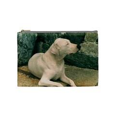 Dogo Argentino Laying  Cosmetic Bag (Medium)