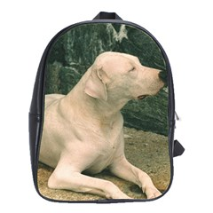 Dogo Argentino Laying  School Bags(Large)
