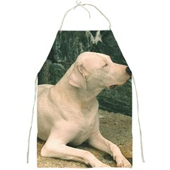 Dogo Argentino Laying  Full Print Aprons
