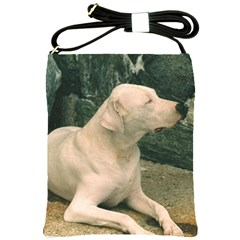 Dogo Argentino Laying  Shoulder Sling Bags