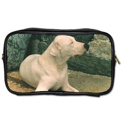 Dogo Argentino Laying  Toiletries Bags