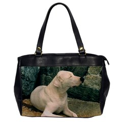 Dogo Argentino Laying  Office Handbags