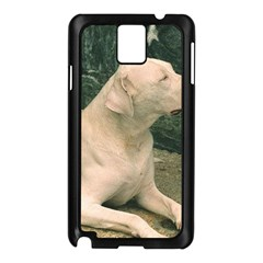 Dogo Argentino Laying  Samsung Galaxy Note 3 N9005 Case (Black)