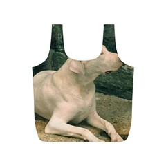 Dogo Argentino Laying  Full Print Recycle Bags (S)