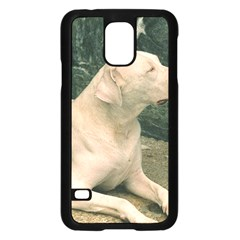 Dogo Argentino Laying  Samsung Galaxy S5 Case (Black)