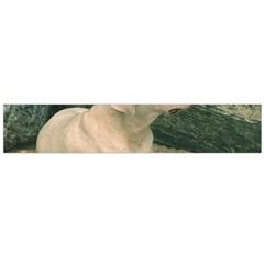 Dogo Argentino Laying  Flano Scarf (Large)