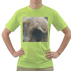 Whippet Brindle Eyes  Green T-Shirt