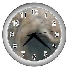 Whippet Brindle Eyes  Wall Clocks (Silver)