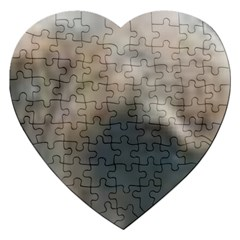 Whippet Brindle Eyes  Jigsaw Puzzle (Heart)