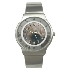 Whippet Brindle Eyes  Stainless Steel Watch