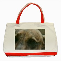 Whippet Brindle Eyes  Classic Tote Bag (Red)
