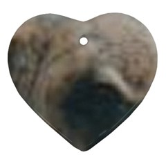 Whippet Brindle Eyes  Heart Ornament (2 Sides)